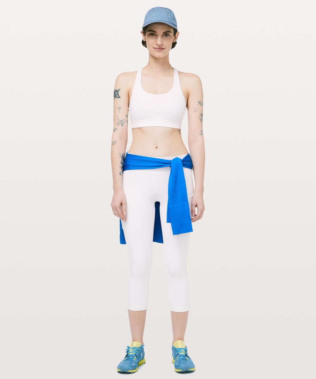 "Lululemon Speed Up Crop *21"" - White"