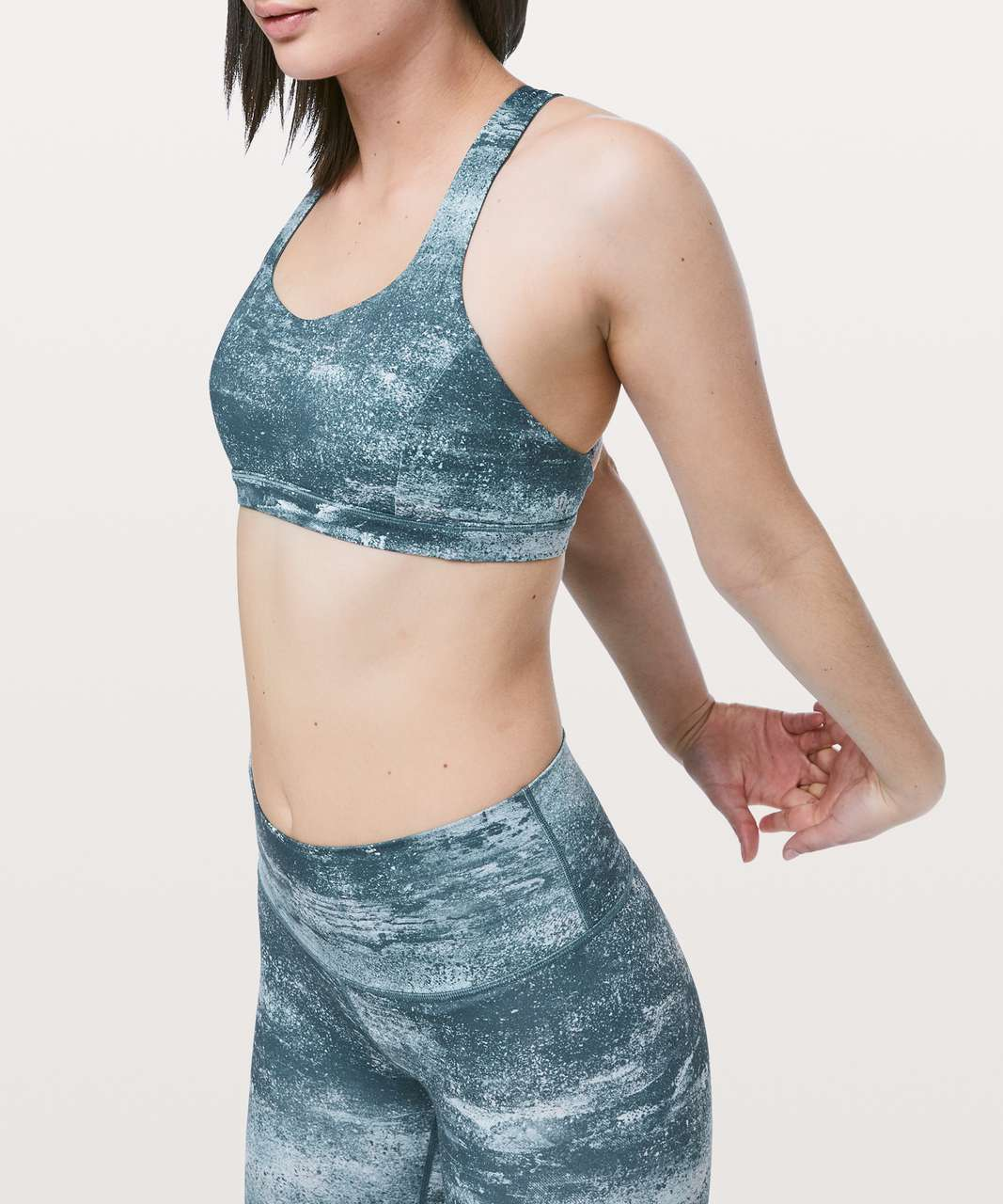 Lululemon Free To Be Serene Bra - Azurite Mint Tint Multi