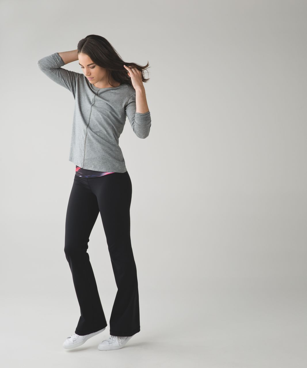 Lululemon Groove Pant III (Regular) - Black / Pigment Wind White Multi