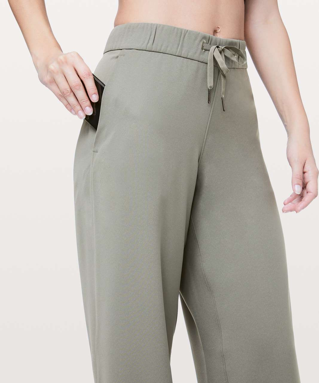 "Lululemon On The Fly Pant *Wide Leg Woven 31.5"" - Grey Sage"