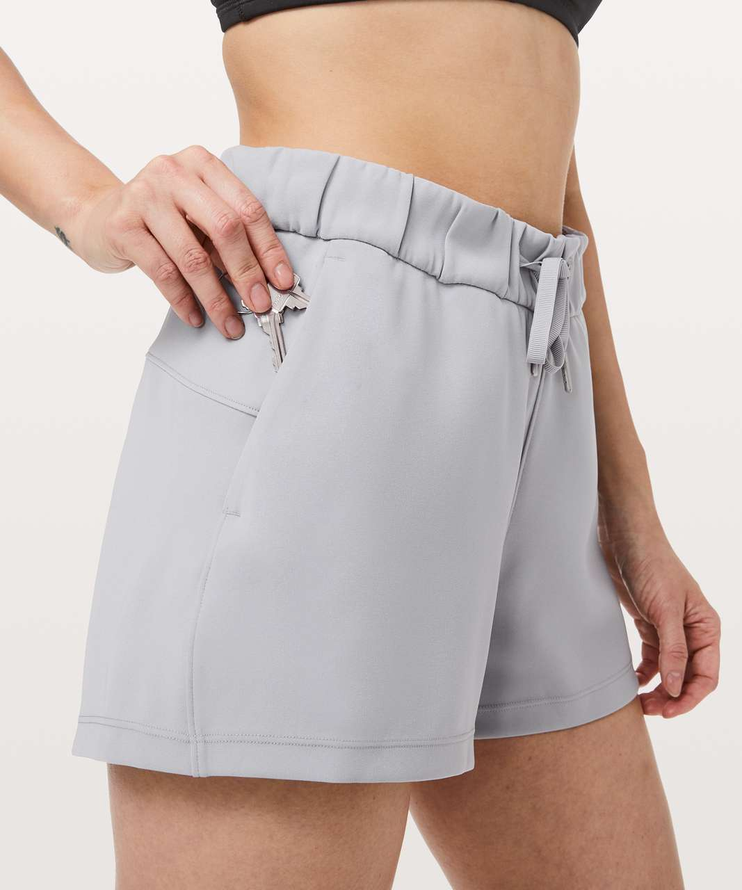 "Lululemon On The Fly Short *Woven *2.5"" - Silverscreen"