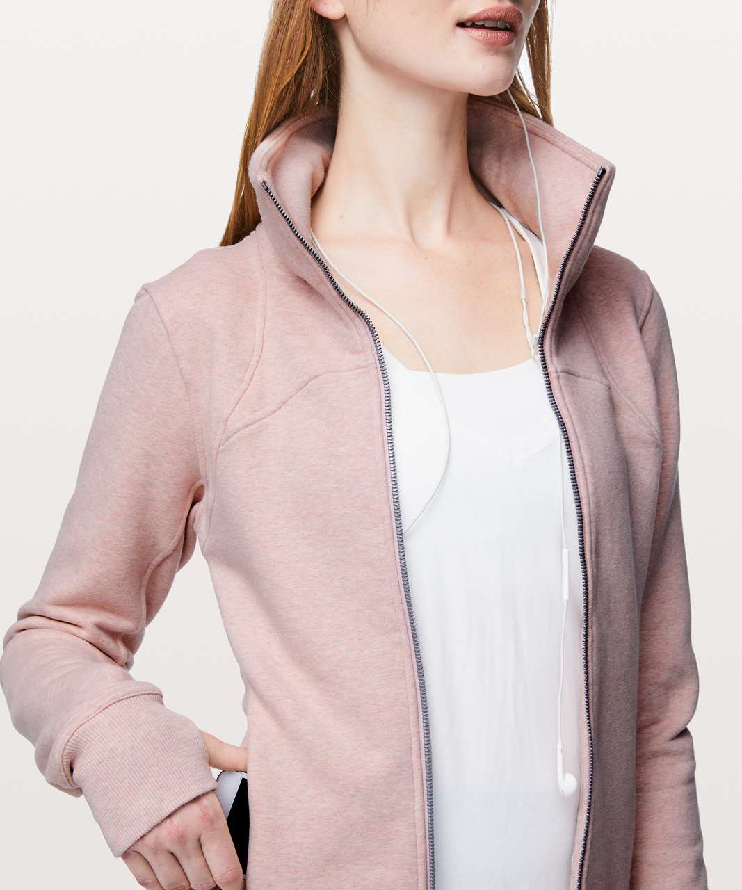 Lululemon Moving Meditation Jacket - Heathered Mink Berry / Mink Berry