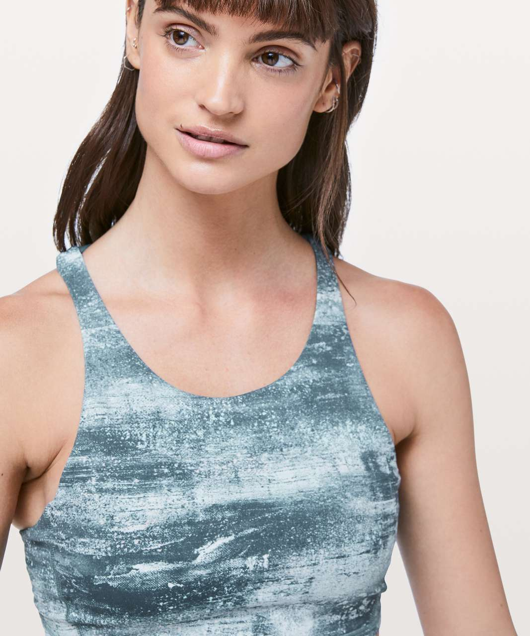 Lululemon Free To Be Bra *High Neck - Azurite Mint Tint Multi / Mystic Green