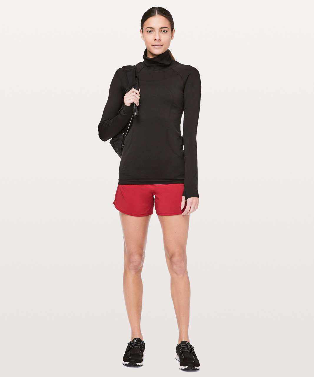 "Lululemon Run Times Short II *4"" - Dark Red"
