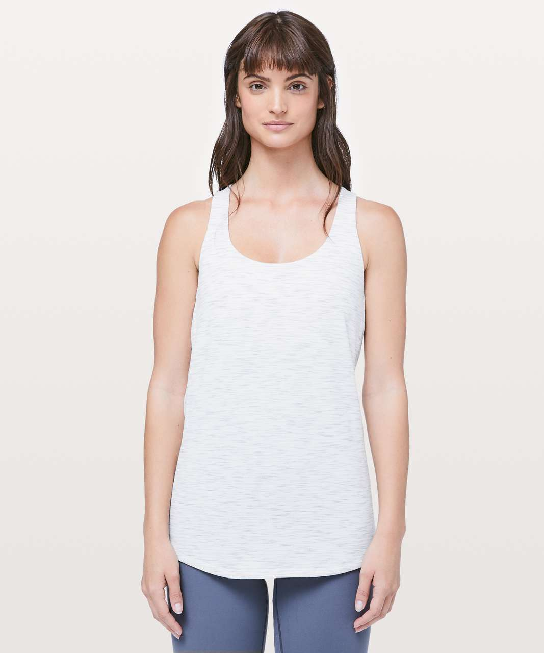 Lululemon Slay The Studio 2-In-1 Tank *Medium Support B/C Cup - Tiger Space Dye Hail White / Pink Glow