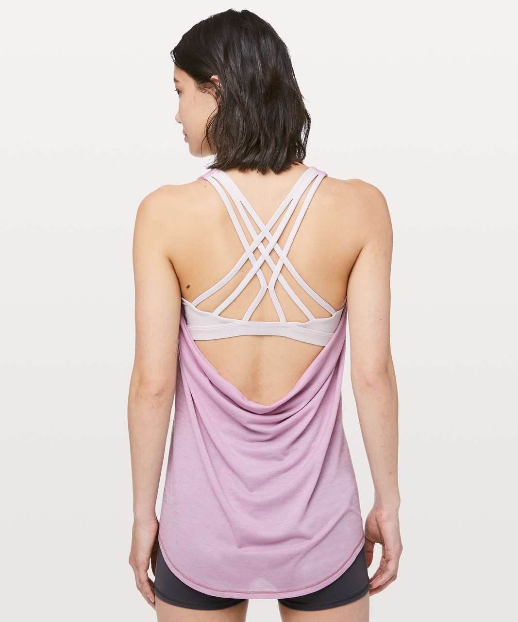Lululemon Slay The Studio 2-In-1 Tank *Medium Support B/C Cup - Heathered Antoinette / Light Chrome