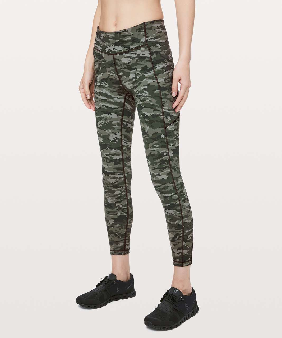 Lululemon Speed Up 7/8 Tight - Evergreen Camo Green Multi