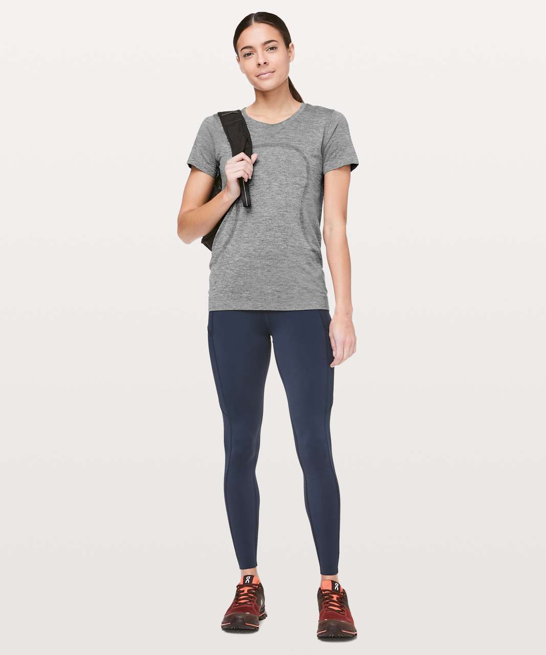 Lululemon Swiftly Tech Short Sleeve (Breeze) *Relaxed Fit - Slate / White