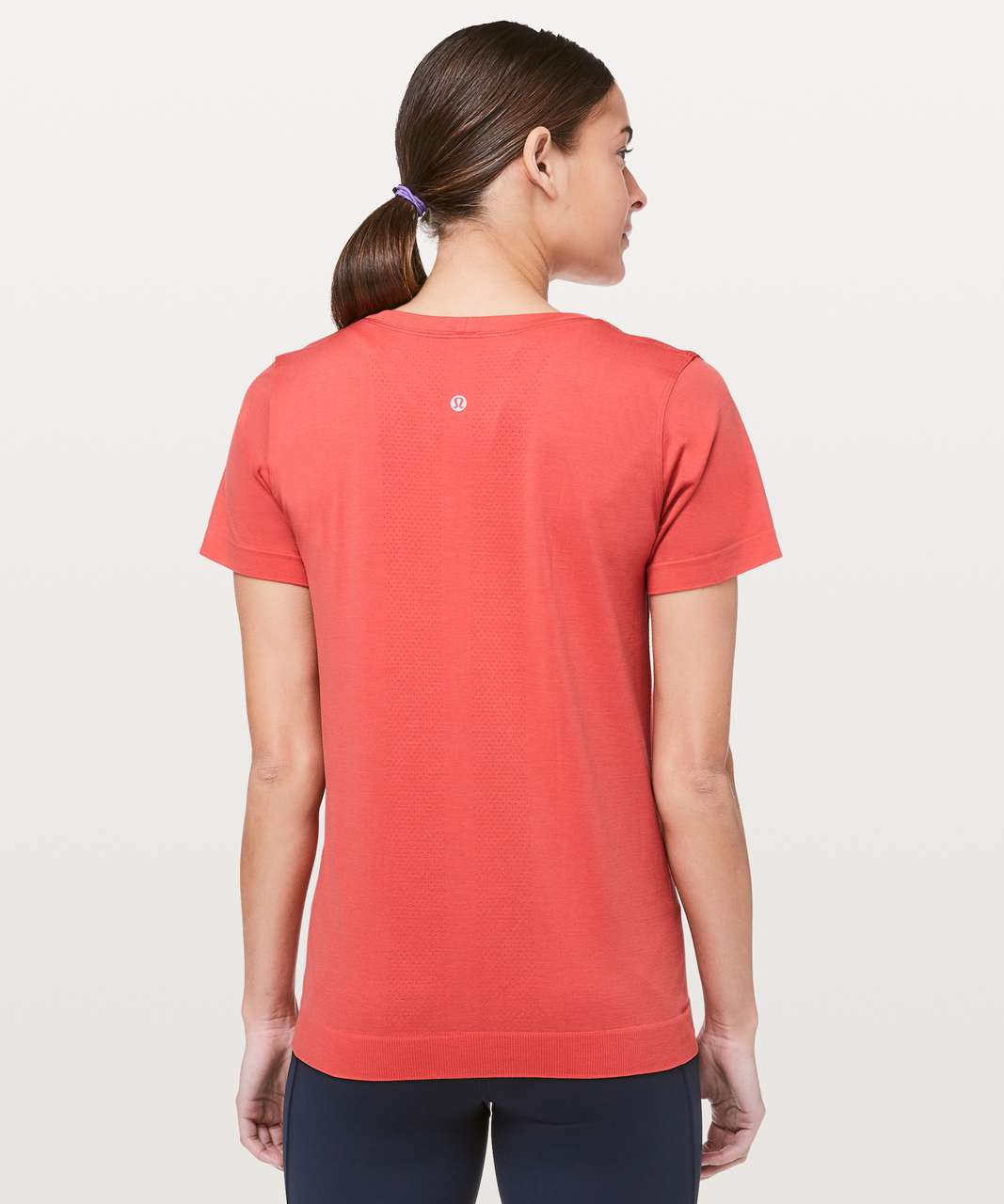 Lululemon Swiftly Tech Short Sleeve (Breeze) *Relaxed Fit - Poppy Coral / Poppy Coral