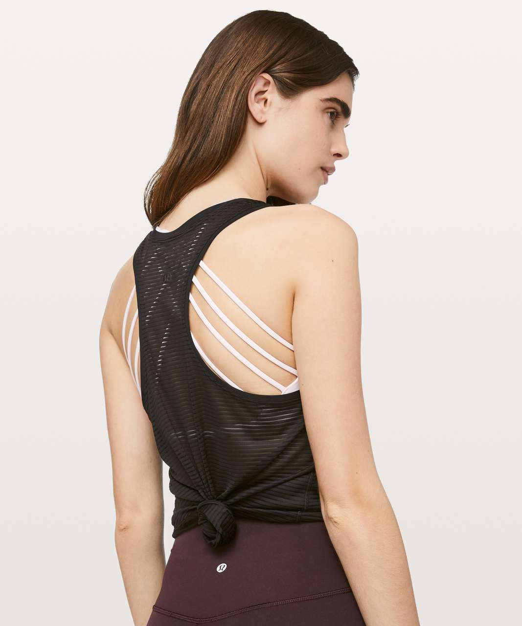 Lululemon All Love Tank *Striped Mesh - Black