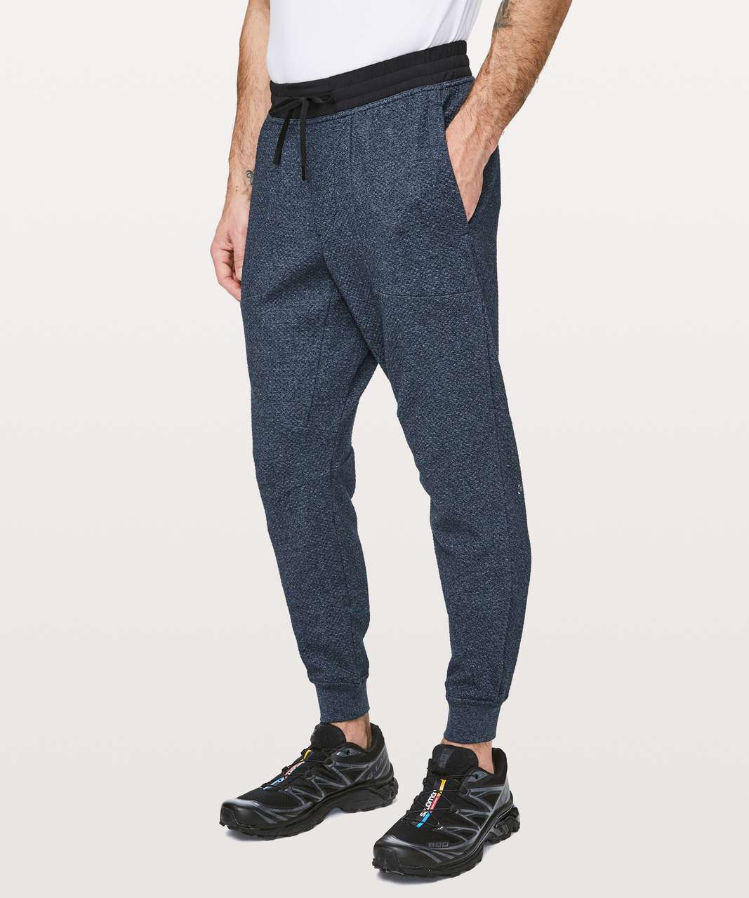 Lululemon At Ease Jogger - Heathered Speckled Jet Blue / Black