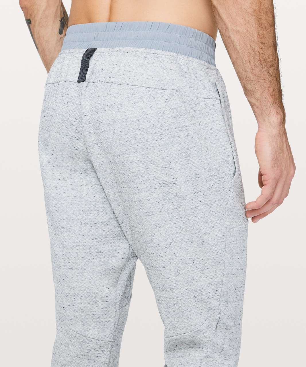 Lululemon At Ease Jogger - Heathered Melody Light Grey / Black
