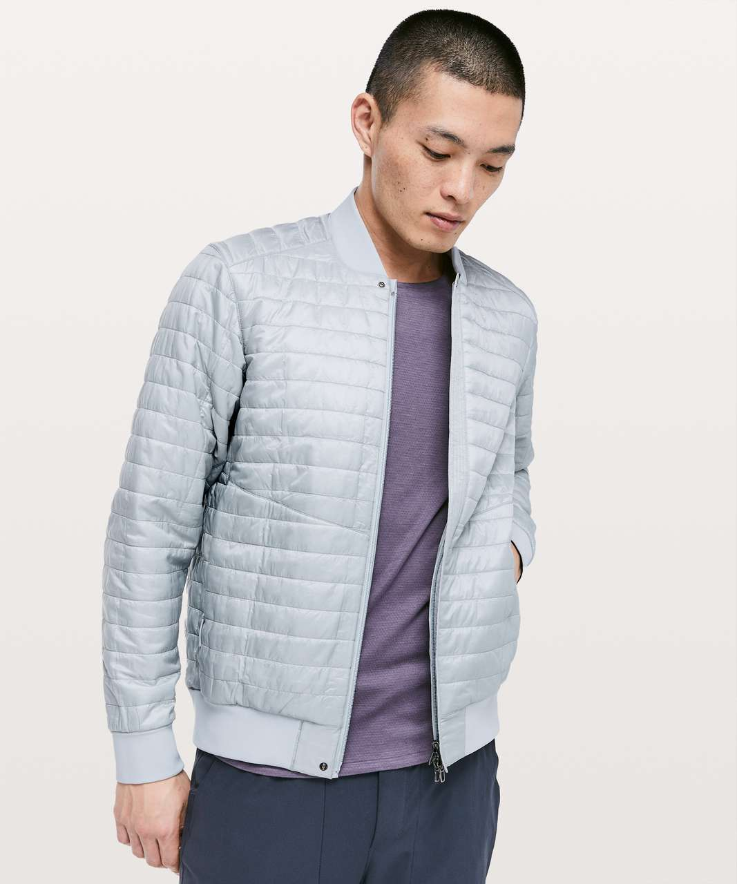 Lululemon Switch Over Bomber - Sea Salt