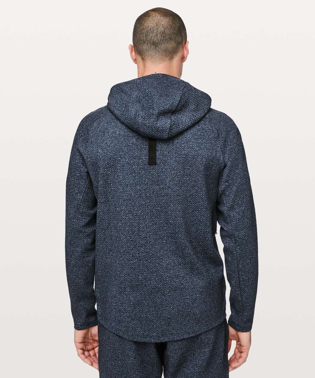 Lululemon At Ease Hoodie - Heathered Speckled Jet Blue / Black