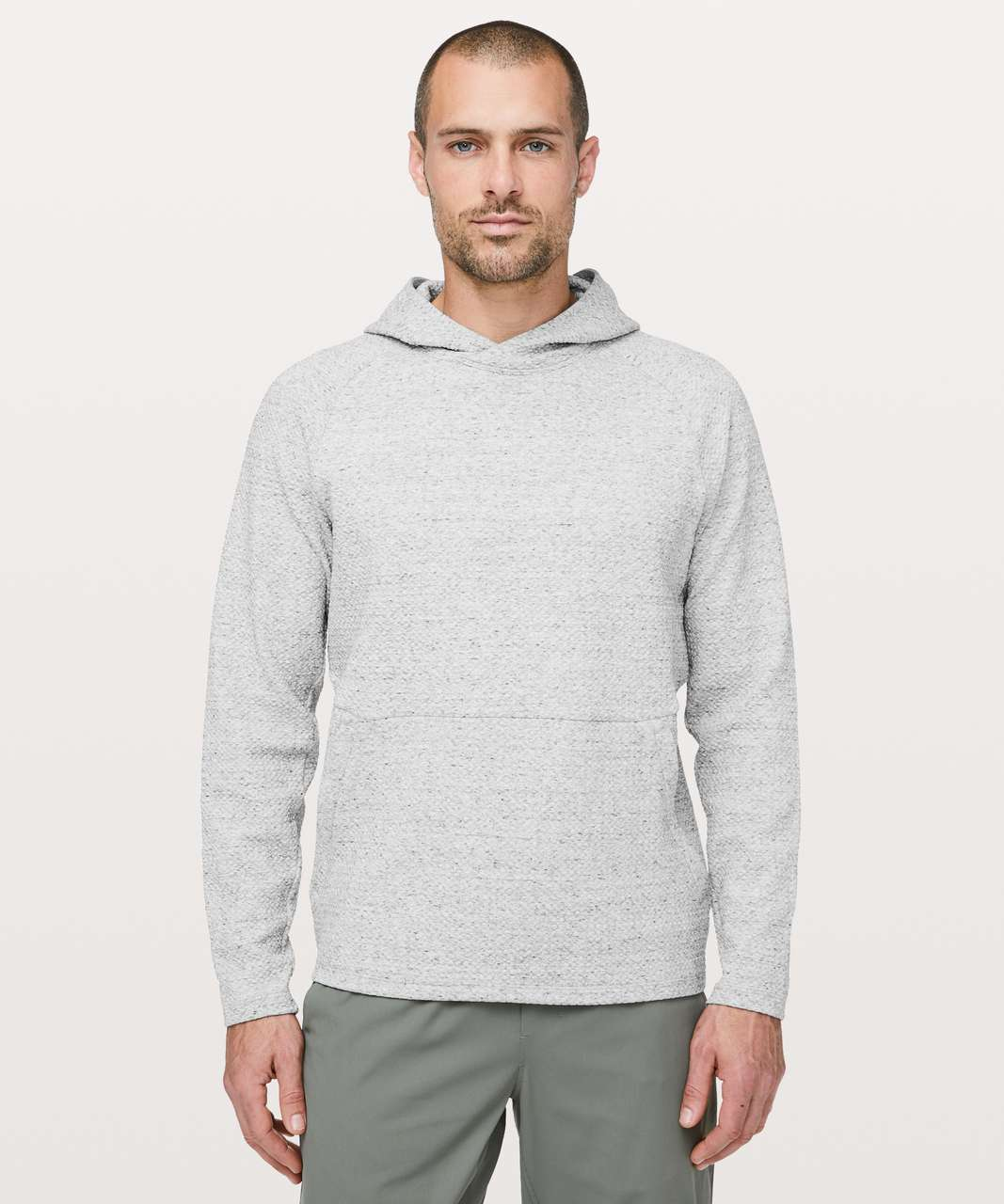 Lululemon At Ease Hoodie - Heathered Melody Light Grey / Black