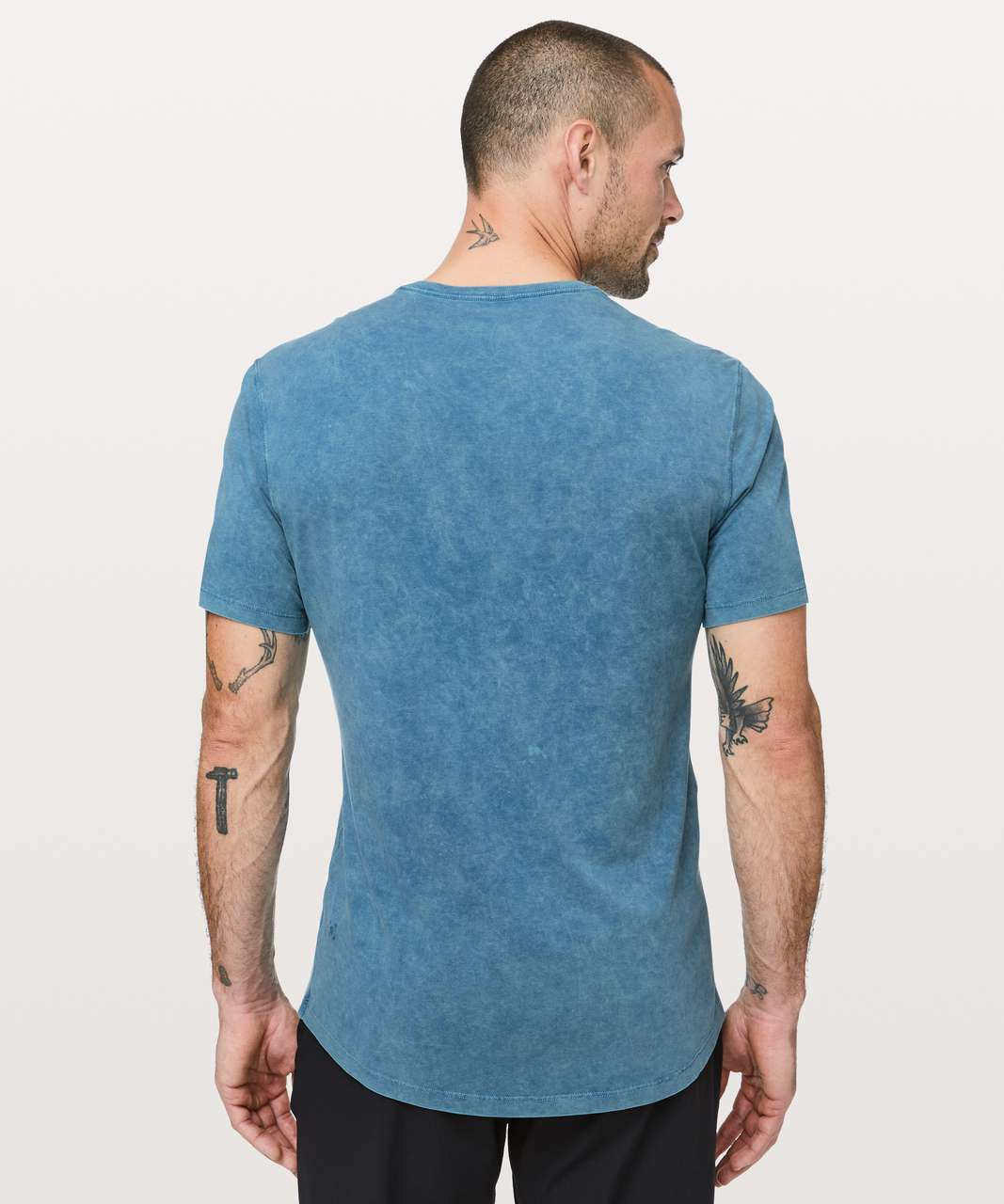 Lululemon 5 Year Basic V *Mineral Wash - Mineral Washed Pewter Blue