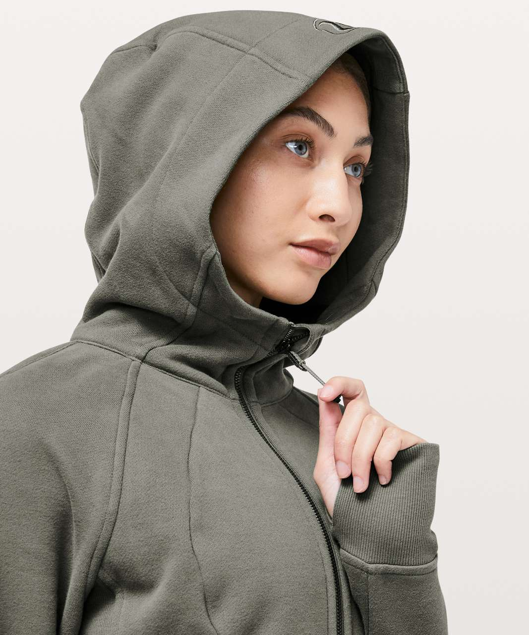 Lululemon Scuba Hoodie *Light Cotton Fleece - Grey Sage