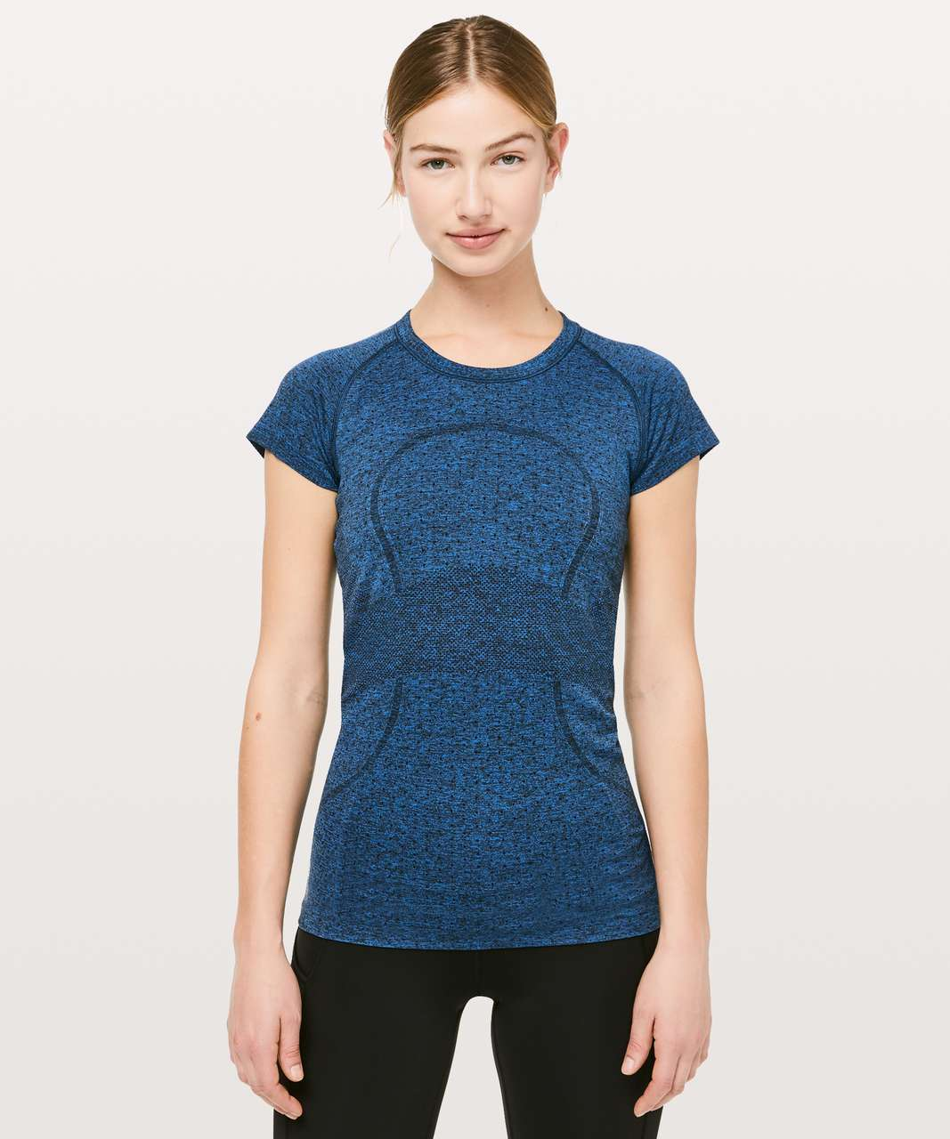Lululemon Swiftly Tech Short Sleeve Crew - Chromatic Cobalt / Black