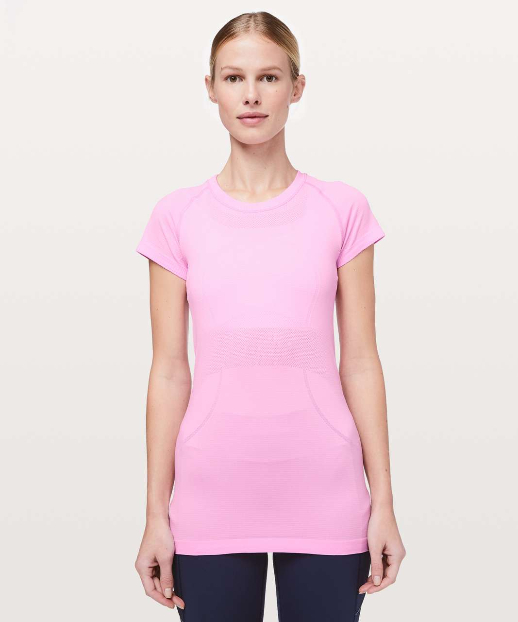 Lululemon Swiftly Tech Short Sleeve Crew - Vintage Pink / White