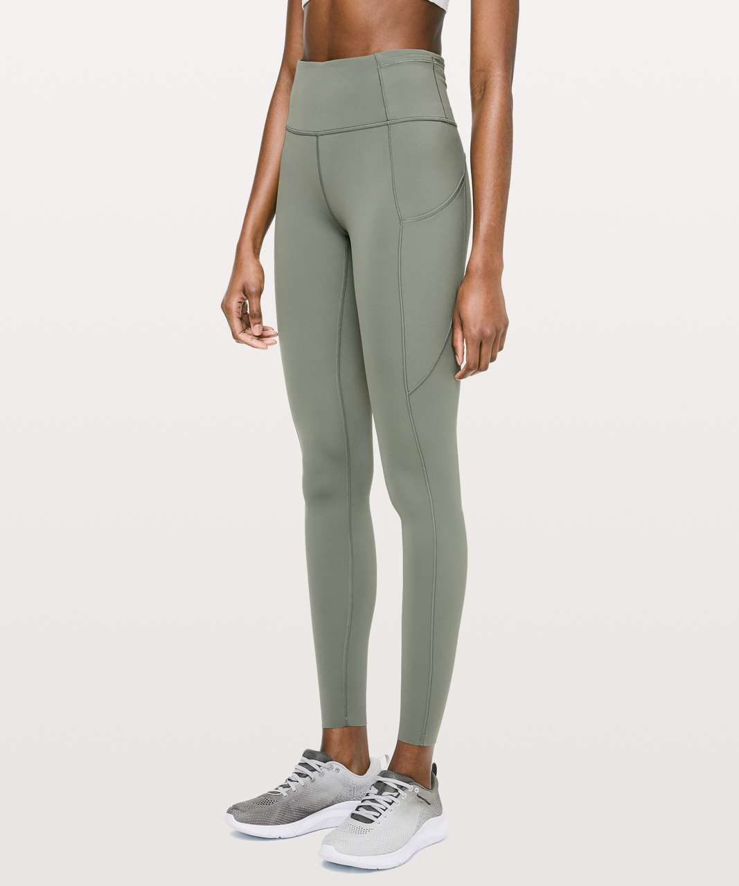 "Lululemon Fast & Free Full Length Tight *Non-Reflective 28"" - Grey Sage"