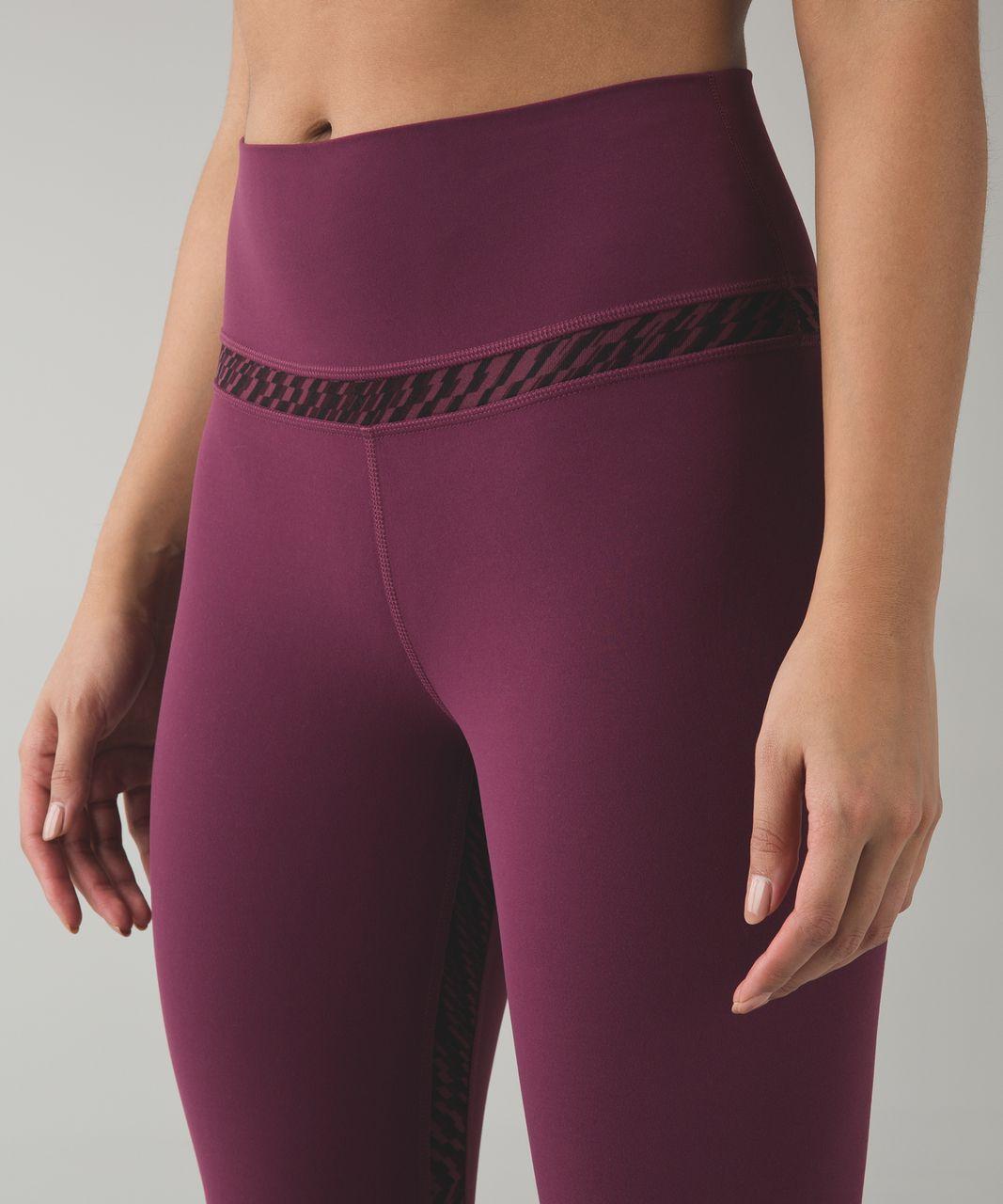 Lululemon Align Pant - Red Grape / Shifted Horizon Red Grape Black