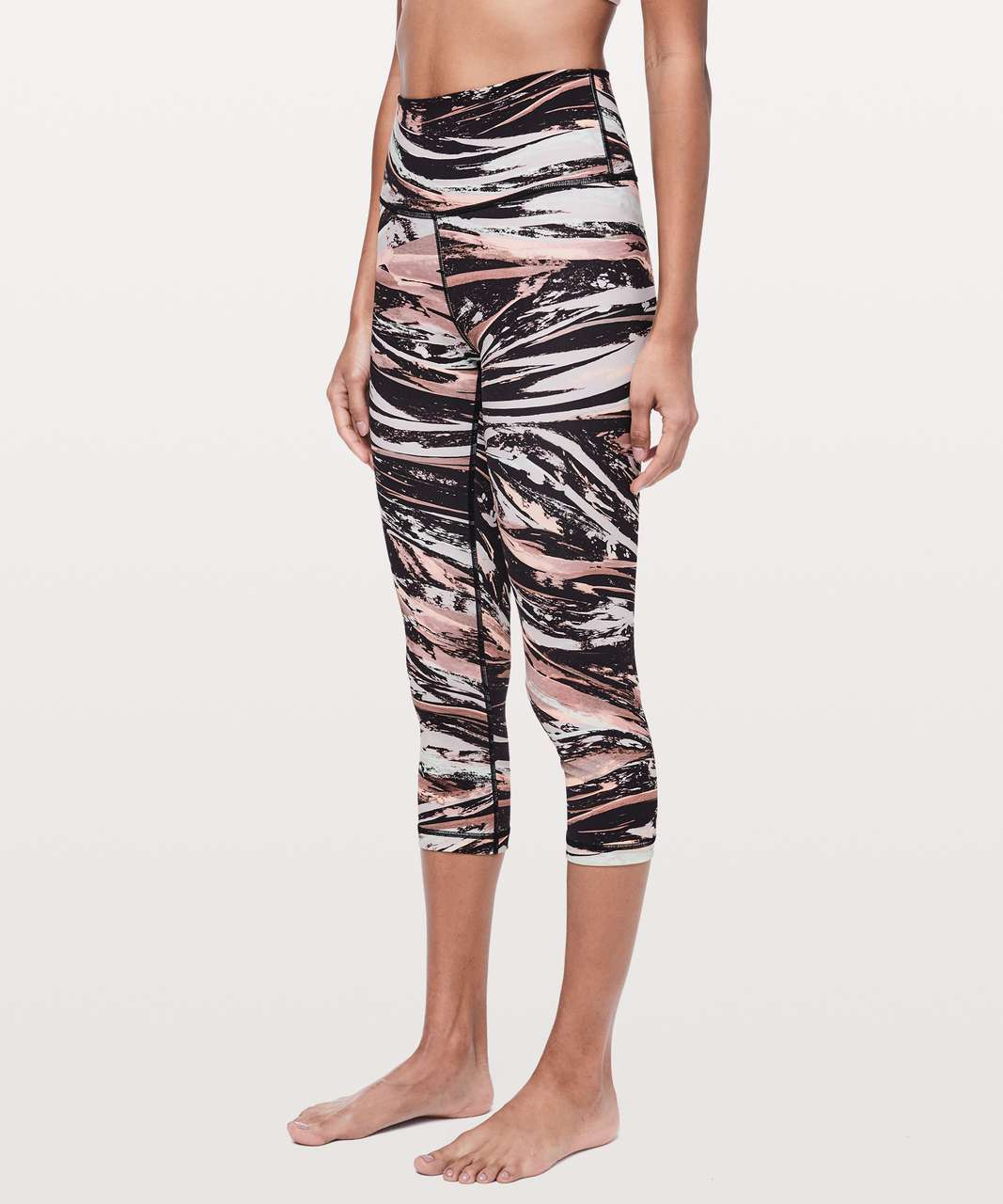 "Lululemon Wunder Under Crop (High-Rise) *Full-On Luxtreme 21"" - Colour Splash Multi"