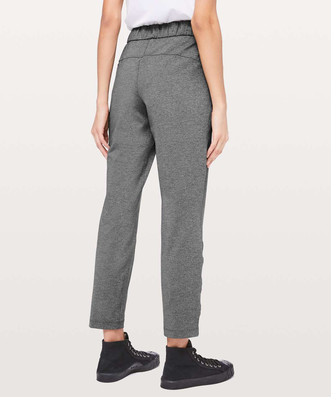 "Lululemon On The Fly Pant *27"" - Heathered Black"