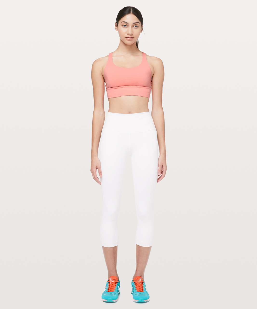 Lululemon Energy Bra *Long Line - Light Coral