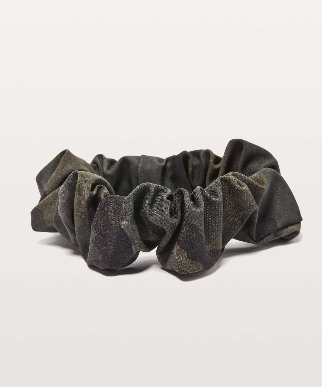 Lululemon Uplifting Scrunchie - Woodland Camo Gator Green Dark Olive