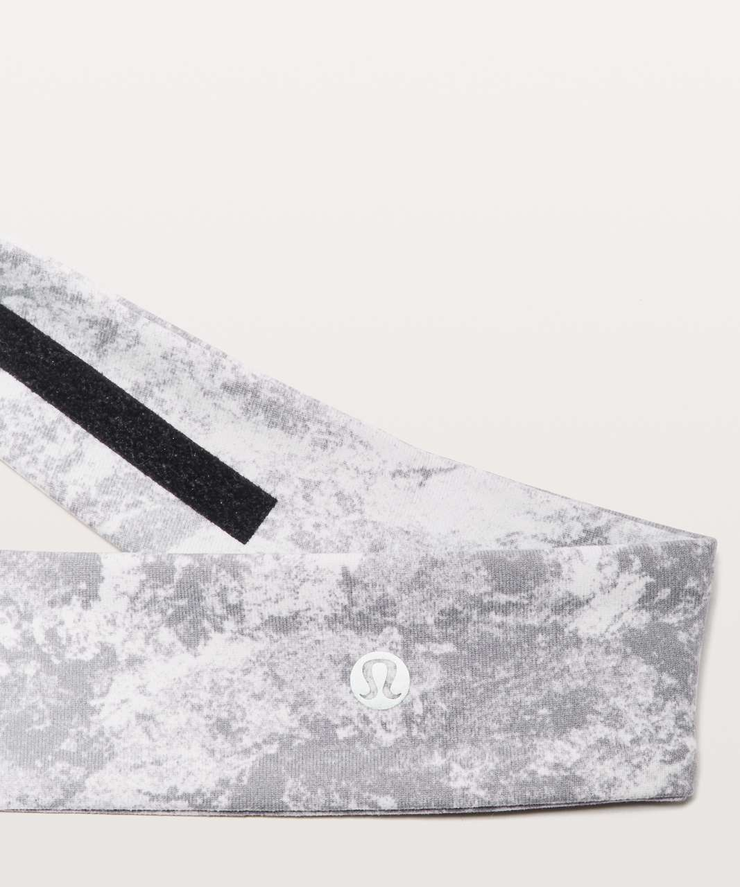 Lululemon Fly Away Tamer Headband II - Washed Marble Alpine White Silverscreen