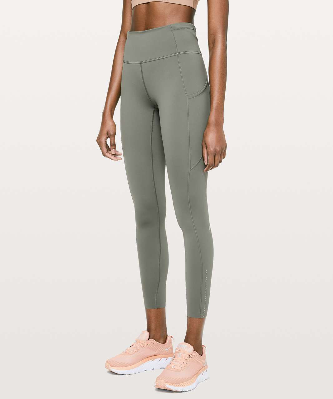 "Lululemon Fast & Free 7/8 Tight II *Nulux 25"" - Grey Sage"