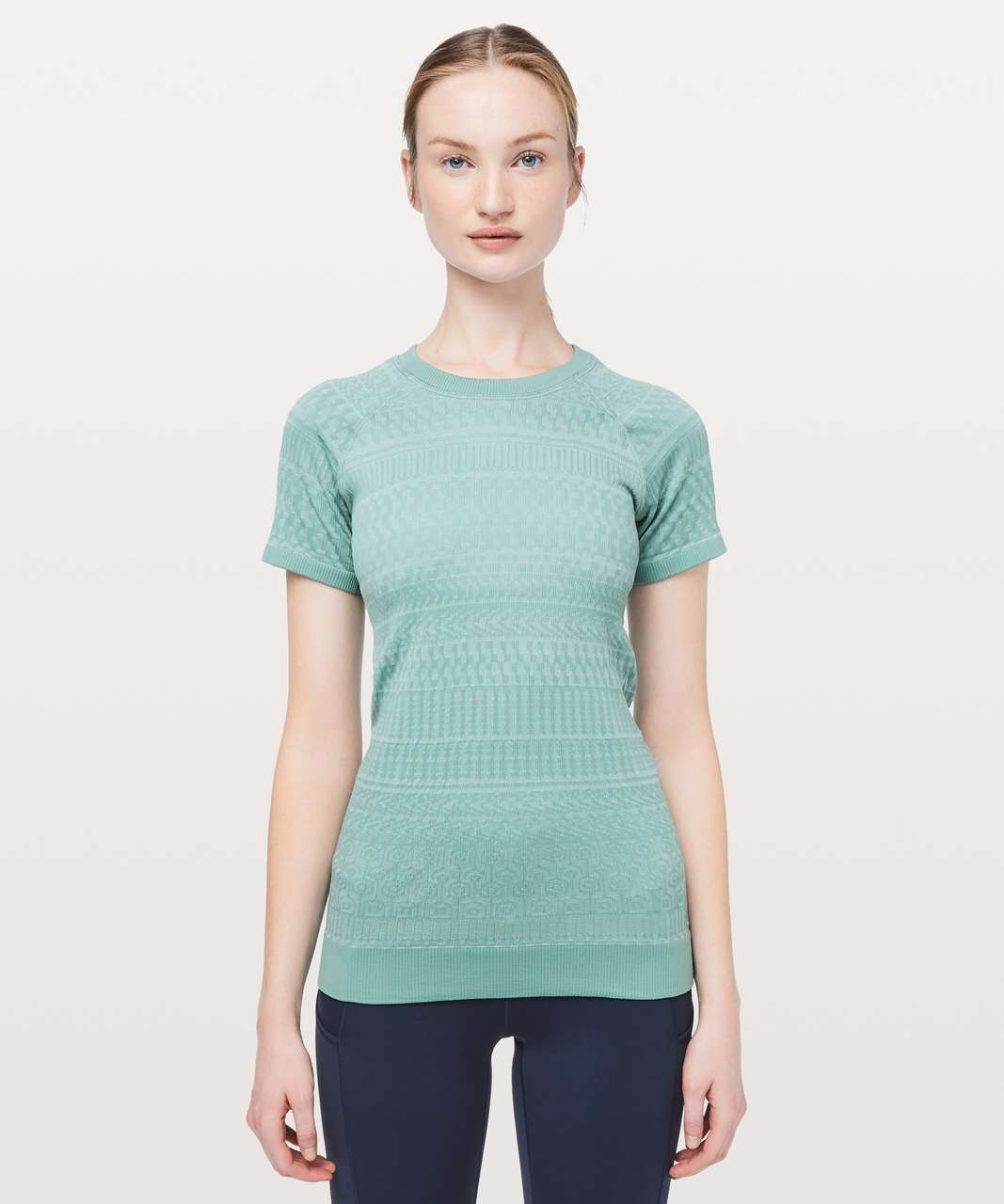 Lululemon Rest Less Short Sleeve - Frosted Pine / White