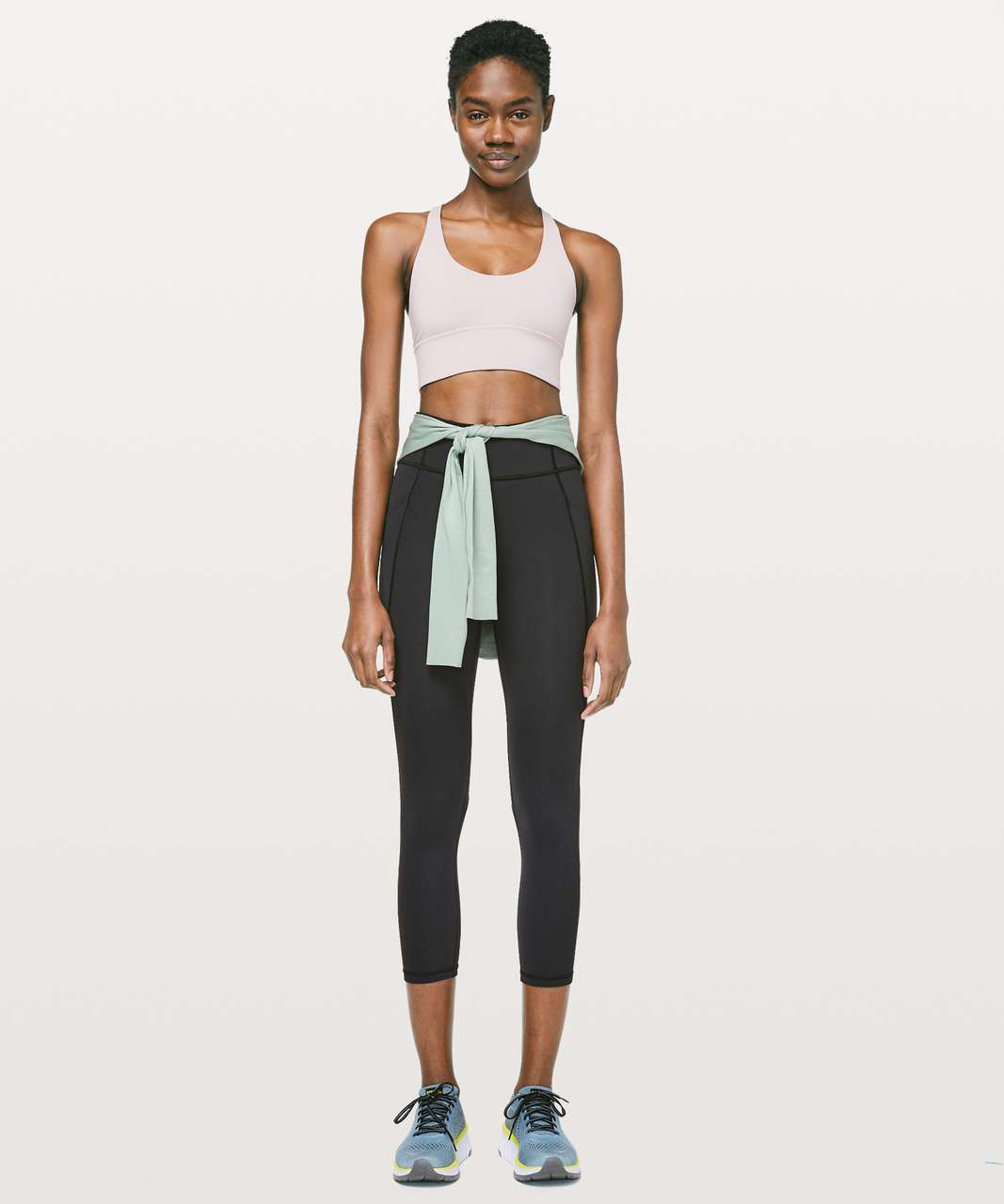 "Lululemon Time To Sweat Crop *23"" - Black"
