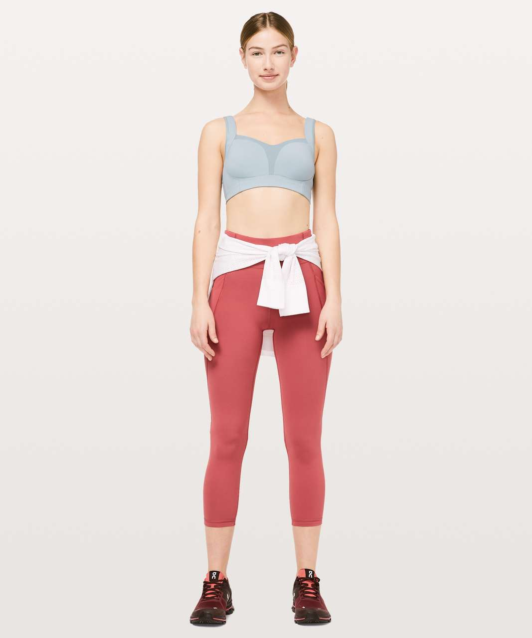 "Lululemon Time To Sweat Crop *23"" - Brick Rose"