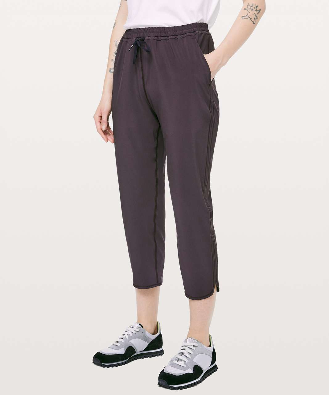 "Lululemon Keep It Classic Crop 23"" - Plum Shadow"
