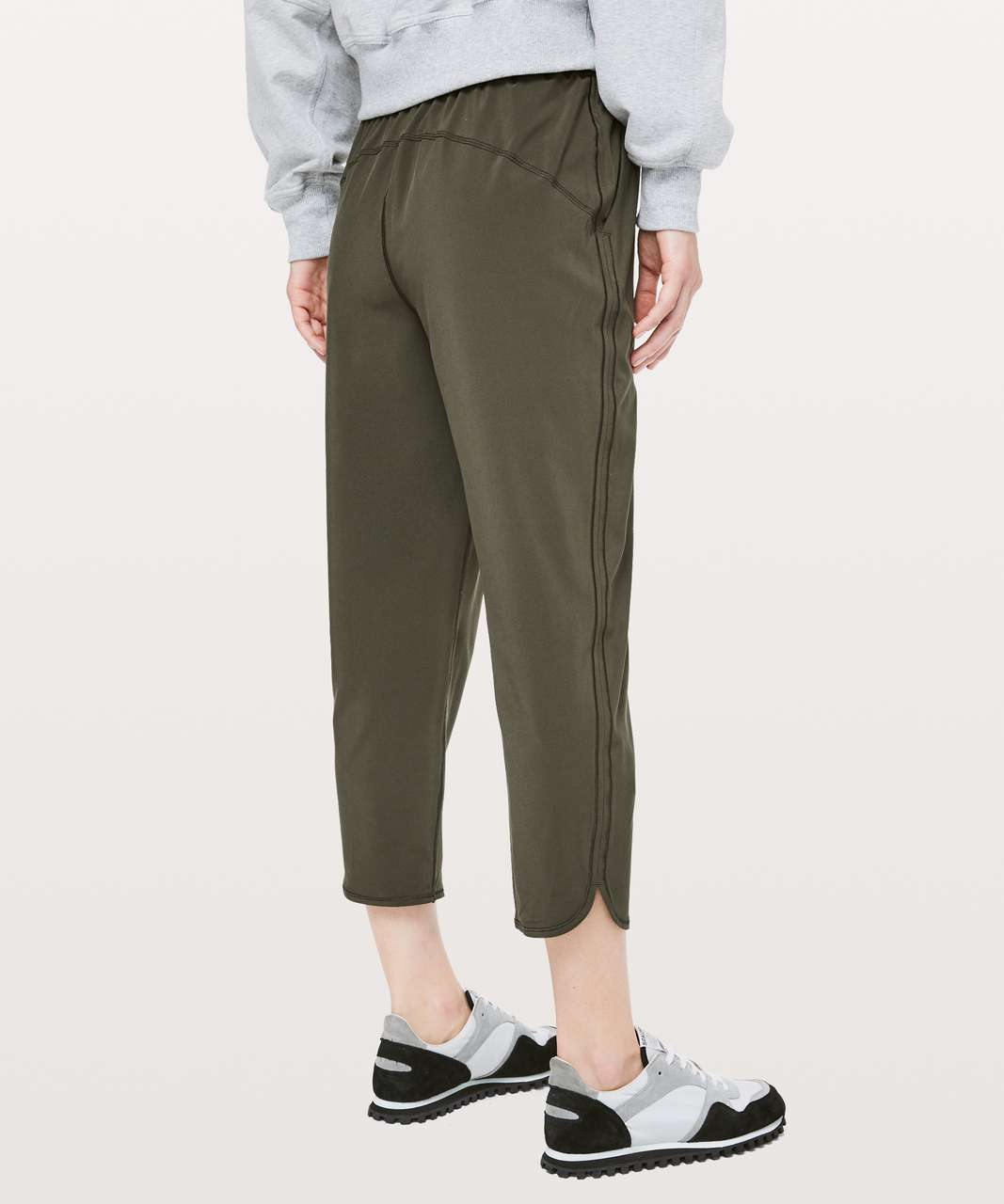 "Lululemon Keep It Classic Crop 23"" - Dark Olive"