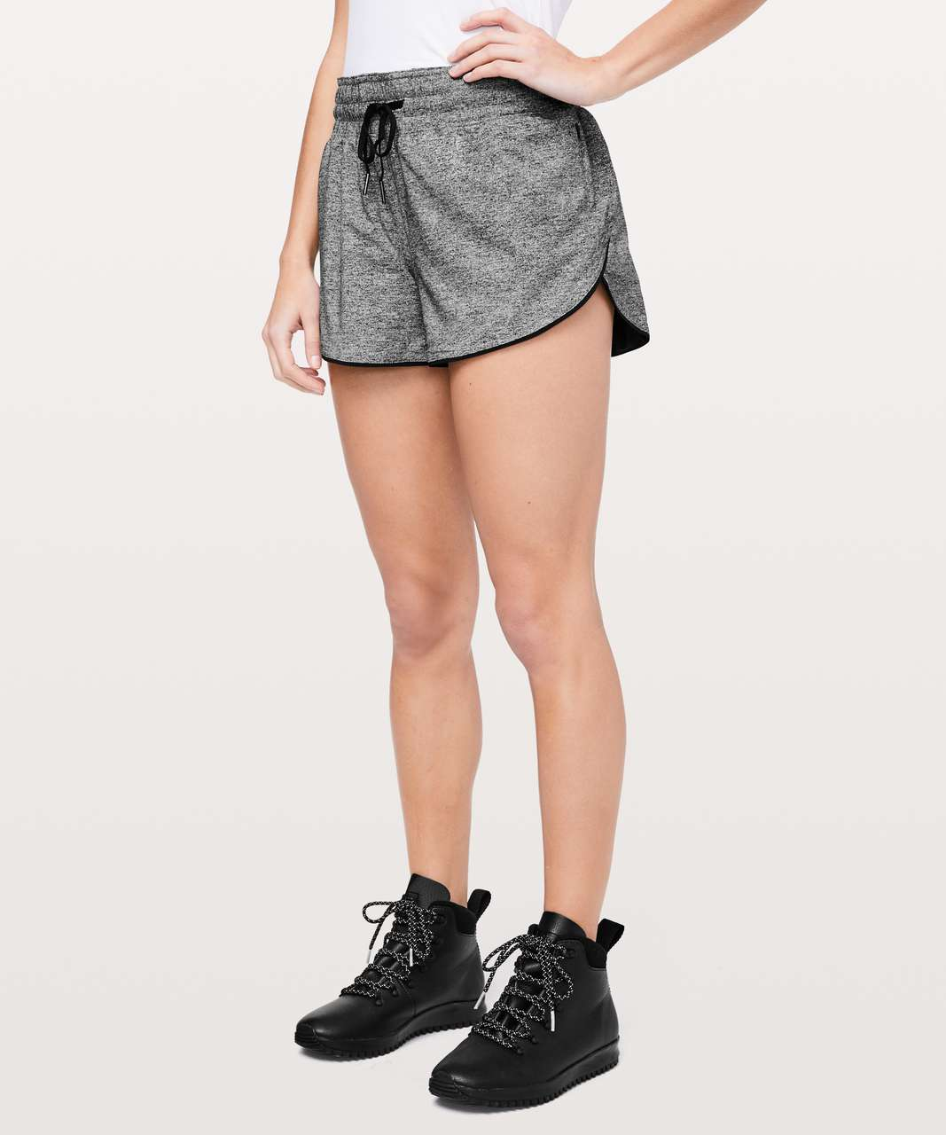 "Lululemon Choose A Side Short *3"" - Heather Lux Multi Black / Black"