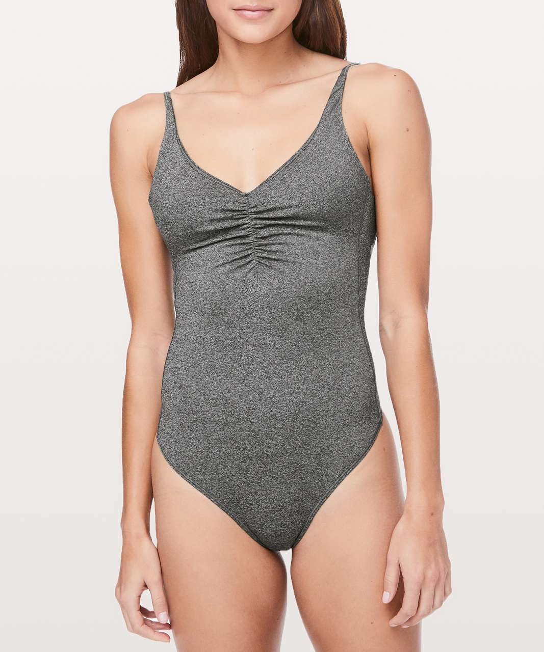 Lululemon Pretty Pursuit Bodysuit - Heathered Black