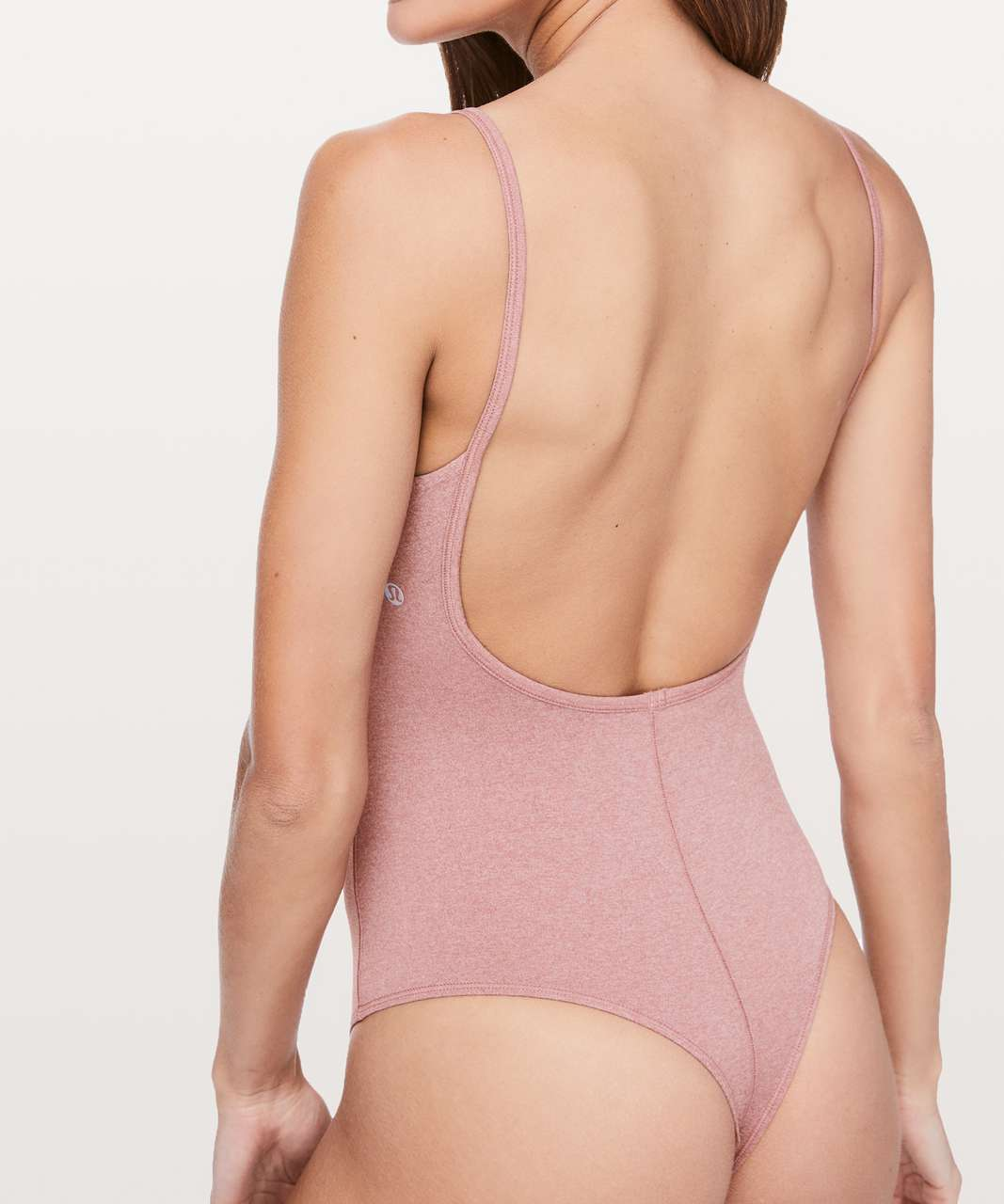 Lululemon Pretty Pursuit Bodysuit - Heathered Quicksand