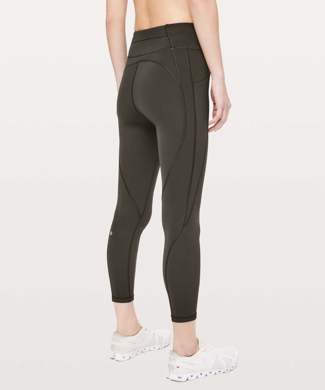 "Lululemon Time To Sweat 7/8 Tight 25"" - Dark Olive"