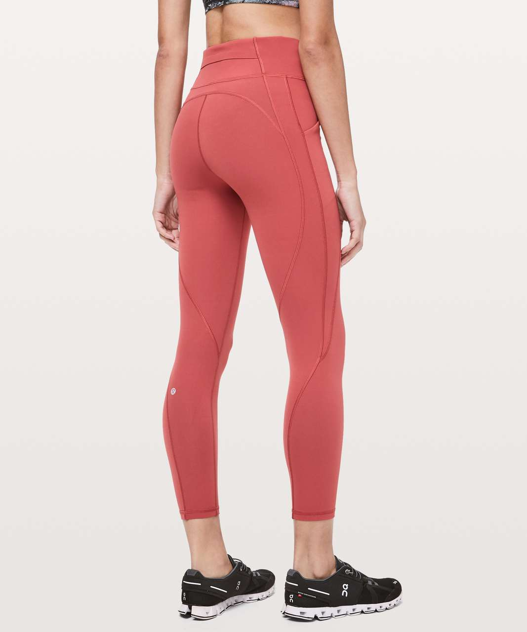 "Lululemon Time To Sweat 7/8 Tight 25"" - Brick Rose"