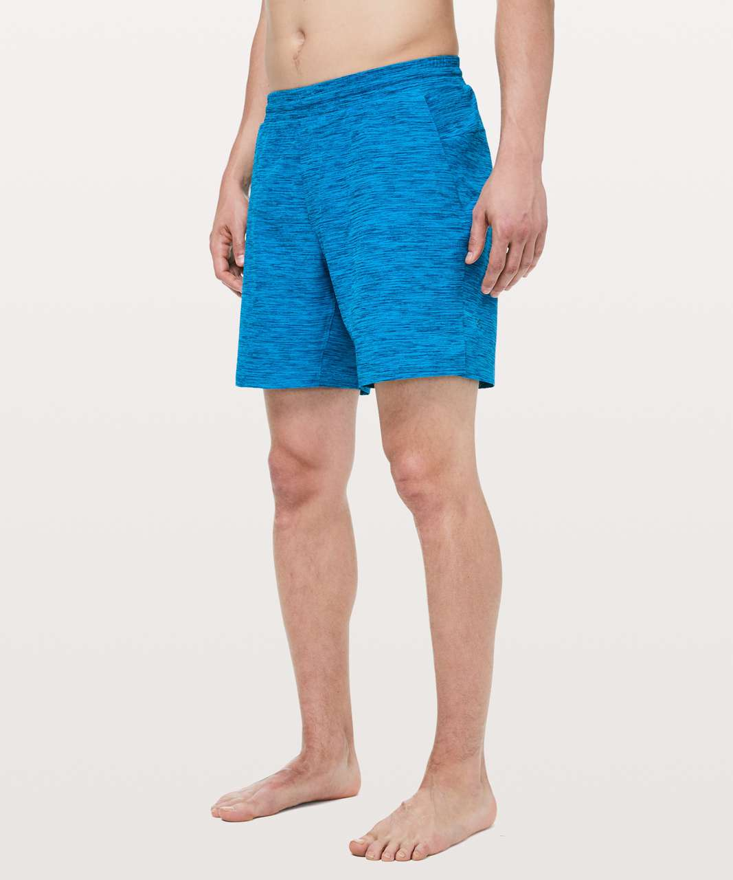 "Lululemon Channel Cross Swim Short *7"" - Invert Heather Vivid Aqua Deep Marine"
