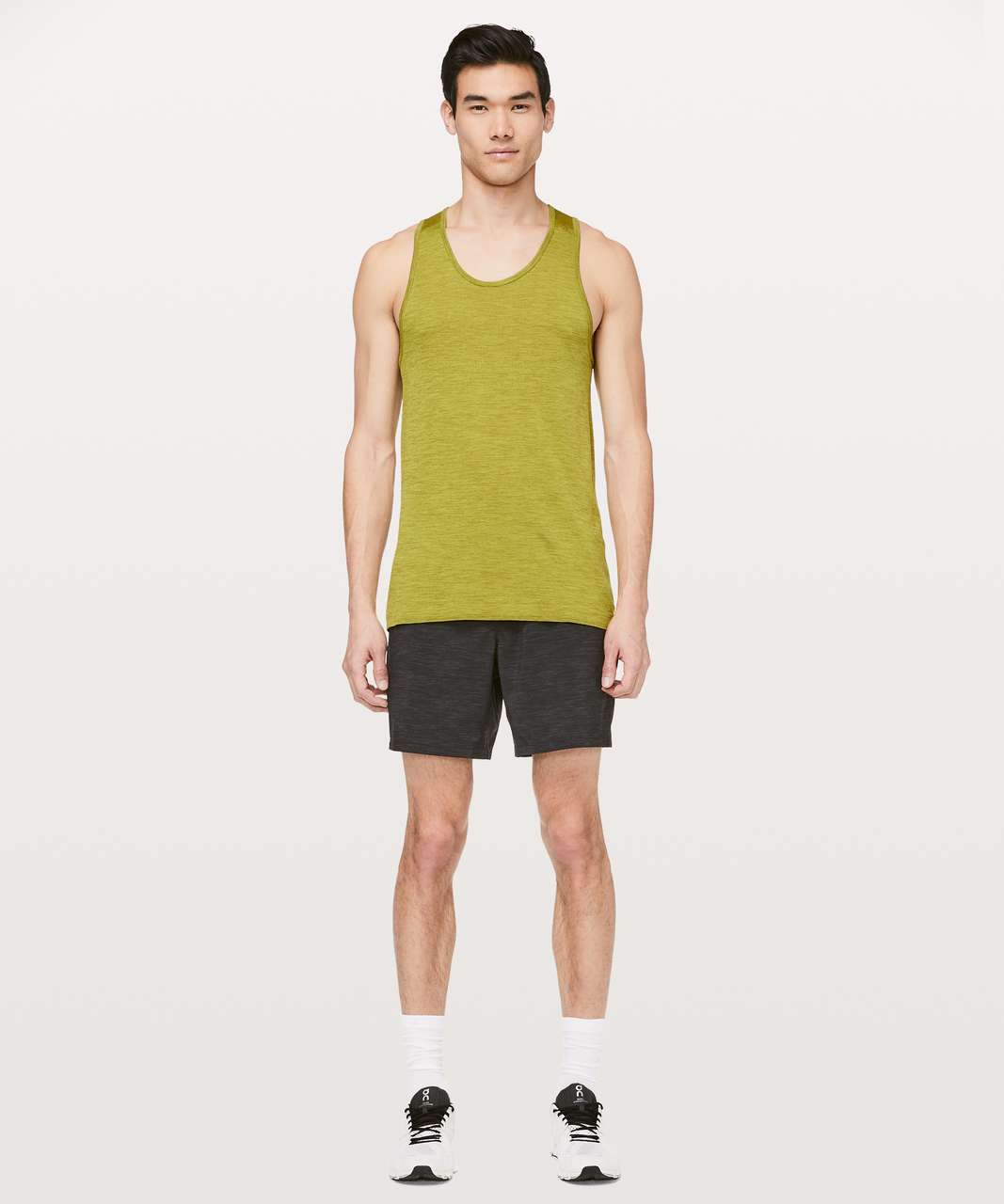 Lululemon Metal Vent Tech Surge Tank - Mossy / Golden Lime