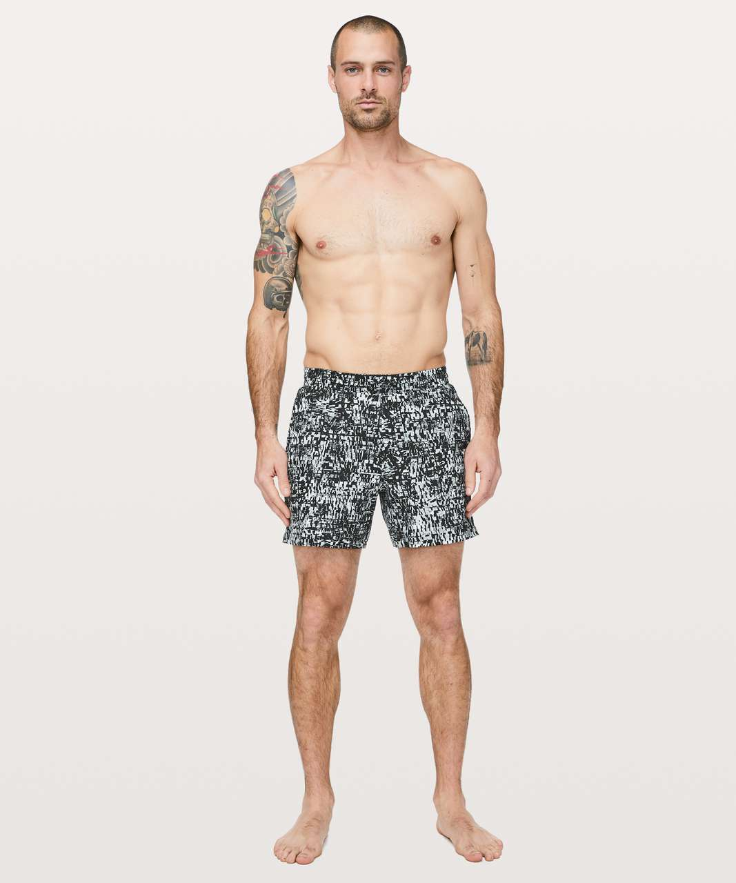 "Lululemon Channel Cross Swim Short *5"" - Mini Venture Black Multi"