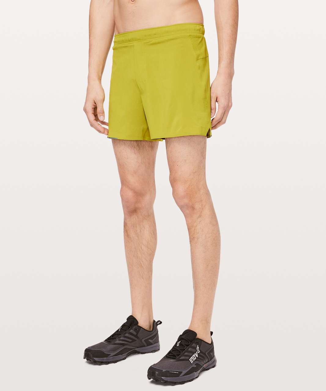 "Lululemon Surge Short 4"" *Liner - Golden Lime"