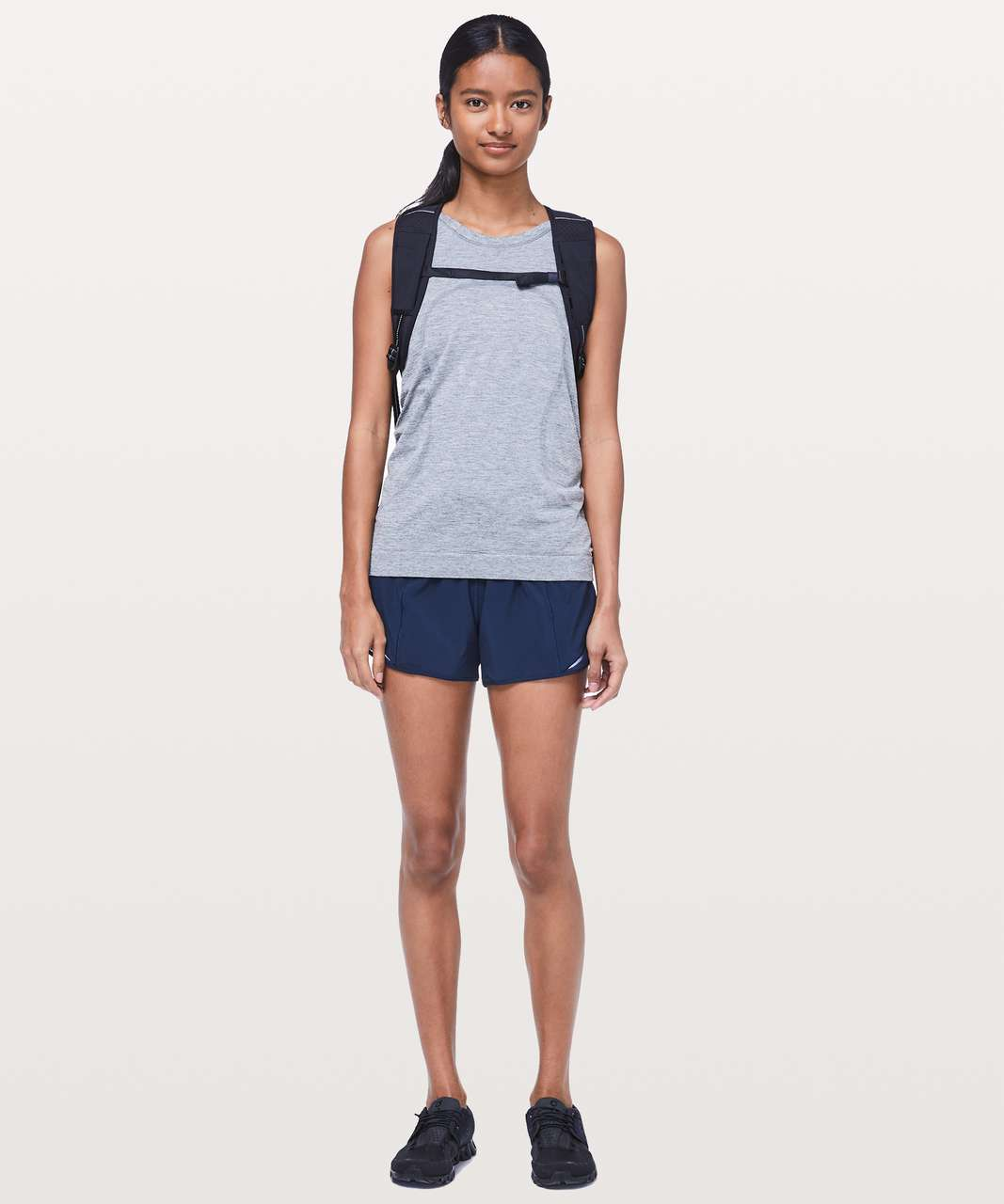 "Lululemon Hotty Hot Short II *Long 4"" - True Navy"