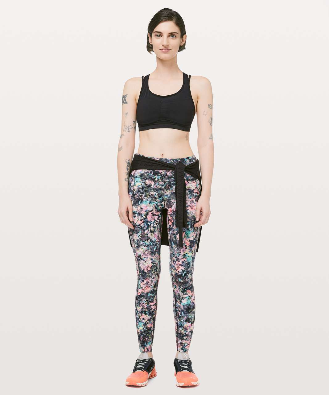 "Lululemon Fast & Free 7/8 Tight II *Nulux 25"" - Dappled Daze Multi"