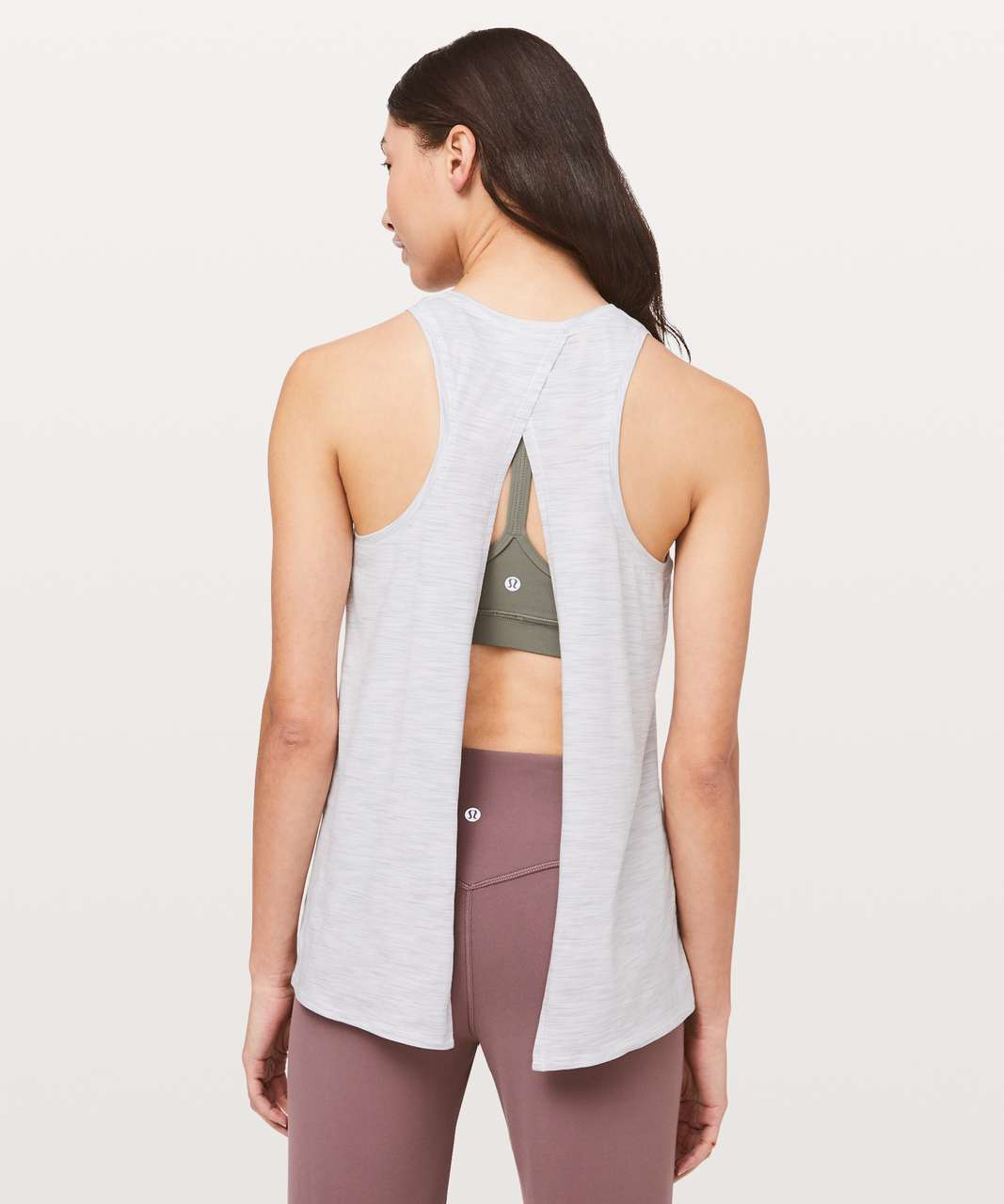 Lululemon All Tied Up Tank - 3 Colour Space Dye Ice Grey Alpine White