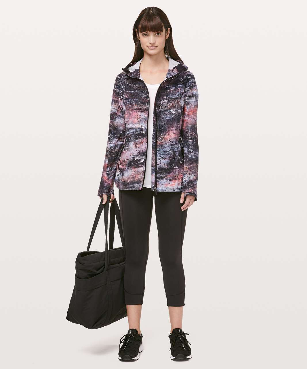 Lululemon The Rain Is Calling Jacket II - Azurite Poppy Coral Multi