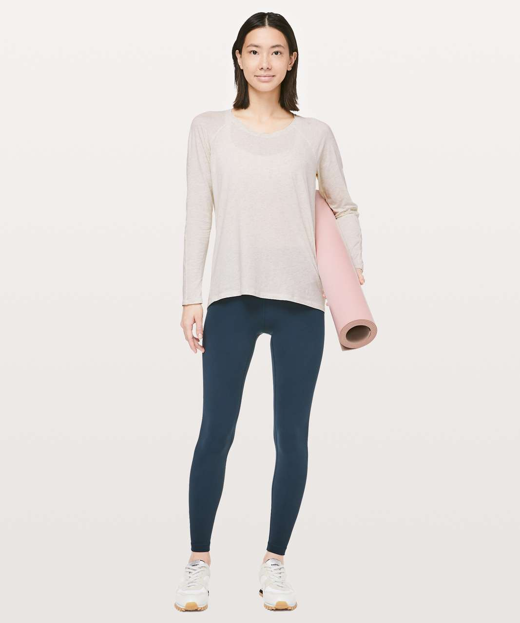 Lululemon Emerald Long Sleeve - Heathered Dove Grey (First Release)